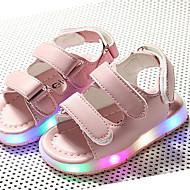 Para Meninas-Sandálias-Primeiros Passos Tênis com LED Shoe luminous-Salto Baixo--Linho-Ar-Livre Casual Para Esporte