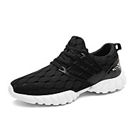 Men's Loafers & Slip-Ons Spring Fall Comfort PU Casual Walking Lace-up White Black Blue