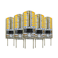 3W G8 Двухштырьковые LED лампы T 64 SMD 3014 200-300 lm Тёплый белый Регулируемая Декоративная V 5 шт.