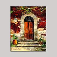 Pintados à mão Vida Imóvel Horizontal,Mediterrêneo Estilo Europeu 1 Painel Tela Pintura a Óleo For Decoração para casa