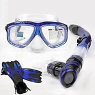 Dykkermasker Snorkler Beskyttende Dykking og snorkling Neopren Glassfiber Silikon Svart Rød Gul Blå