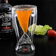 újdonság kristály sellő csésze üveg bögre vodka lövés ivóvíz duplafalú hőálló bár fél csésze ajándék