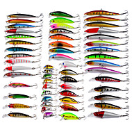 56 pcs Minnow Fishing Lures Hard Bait Minnow Lure Packs Multicolored g/Ounce mm inch,Plastic Bait Casting