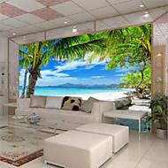 arbres/Feuilles 3D Fond d'écran pour la maison Contemporain Revêtement , Toile Matériel adhésif requis Mural , Couvre Mur Chambre