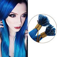 u kärki hiustenpidennykset Brasilian suorat hiukset sininen ihmisen hiusten pidennykset 100g esisidottua suorat neitsyt hiukset kynsien