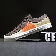 Sneakers-Kanvas-Komfort-Herrer-Mørkeblå Kaffe Marine-Fritid