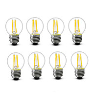 3.5 E14 E27 LED Filament Bulbs G45 4 COB 300 lm Warm White Decorative AC220 AC230 AC240 V 8 pcs
