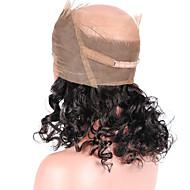 naturlig hårfestet løs bølge 360 lisse frontal lukking med babyens hår 100% brasiliansk jomfru menneskelig hår forhånds plukkes 360