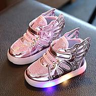 Dívčí Tenisky Pohodlné První botičky Svítící boty světelný Shoe mikrovlákno Léto Podzim Svatební LežérníPohodlné První botičky Svítící