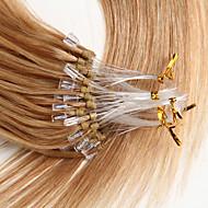 22 calowy mikro pętli remy ludzkie włosy przedłużenie prosty styl 0.5g / s ludzkie włosy mikroczerwień rozszerzenia 100s / opakowanie 50g