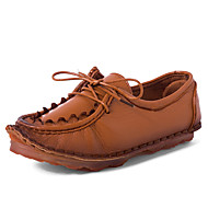 Damen-Loafers & Slip-Ons-Outddor Lässig-Leder-Flacher Absatz-Komfort-