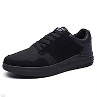 Men's Sneakers Spring Summer Comfort Fabric Outdoor Athletic Casual Running Flat Heel Lace-up Black/Red Black/White Black