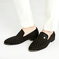 Herre-Semsket lær-Flat hæl-Komfort-一脚蹬鞋、懒人鞋-Fritid-