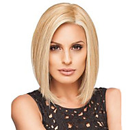 Blonde Short Straight Bobo Wig  High Temperature Fiber American Afro Synthetic Hair Wig for Women