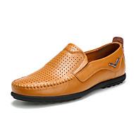 Homme Chaussures Polyuréthane Printemps Automne Moccasin Mocassins et Chaussons+D6148 Marche Couture en Dentelle Pour Décontracté Noir