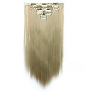 A Clipser Fibre synthétique Extensions de cheveux Extension des cheveux