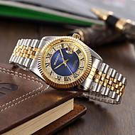 Men's Fashion Watch Quartz Alloy Band Silver Gold Green Purple Black White Gold