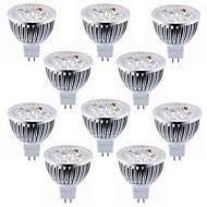 5.5W GU5.3(MR16) תאורת ספוט לד MR16 4 לד בכוח גבוה 600 lm לבן חם לבן קר דקורטיבי DC 12 V עשרה חלקים