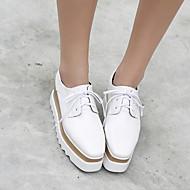 נשים-מגפיים-גומי-רצועת T-לבן-יומיומי-עקב שטוח