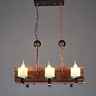 Luzes Pingente ,  Tradicional/Clássico Retro Rústico Pintura Característica for Estilo Mini Madeira/BambuSala de Estar Sala de Jantar