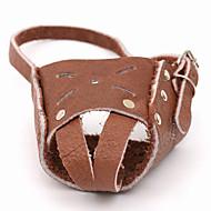 pejsky Bark Collar Anti Bark Jednolitý Pravá kůže Hnědá