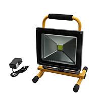 Hkv® 1ks 30w 2850-2950lm lehké přenosné nabíjecí světlo nouzové světlo led světlomet ac 85-265v