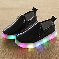 Girls Boys' Loafers & Slip-Ons Summer Fall Light Up Shoes Comfort First Walkers Luminous Shoe Light Soles PU Wedding Outdoor Casual Low Heel LED