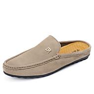 Herre-Lær-Flat hæl-Komfort Mokkasin-一脚蹬鞋、懒人鞋-Friluft Fritid-