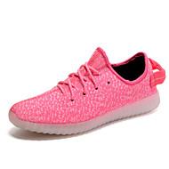 Feminino-Tênis-Solados com Luzes Light Up Shoes par sapatos-Rasteiro--Tule-Ar-Livre Casual Para Esporte