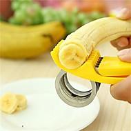 1 Pças. Pepino Banana Cortador e Fatiador For Fruta Vegetais Para utensílios de cozinha Plástico Aço InoxidávelAlta qualidade Gadget de