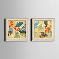 Kwiatowy/Roślinny Martwa natura Oprawione płótno Zestaw w oprawie Wall Art,PVC (polichlorek winylu) Materiał Złoty Nie zawiera podkładkiz