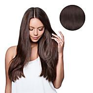 7 Pcs/Set #4 Dark Brown Mocha Brown Clip In Hair Extensions 14Inch 18Inch 100% Human Hair
