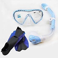 Dykkermasker Snorkler Vanntett Beskyttende Dykking og snorkling Neopren Glassfiber Blå