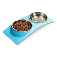 Katze Hund Schalen & Wasser Flaschen Haustiere Schüsseln & Füttern Wasserdicht Grün Blau Rosa