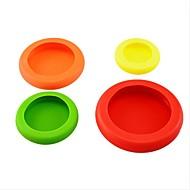 4 stk / sæt vegetabilske frugter huggers plast farverige mad huggers at holde din mad sikkert frisk køkken redskaber ramdon farve