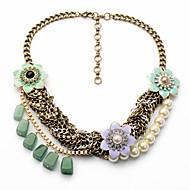 Per donna Fili Collane A forma di fiore Di forma geometrica Originale Personalizzato Verde Chiaro Gioielli Per Casual 1 pezzo