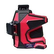 Deke® 3d 635nm infrarød rød laser markering instrument nivelleringslinje laser
