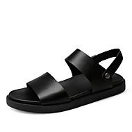 Sandaalit-Tasapohja-Miehet-PU--Rento-Comfort Valopohjat