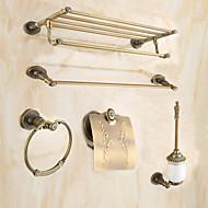 Fürdőszoba tartozék szett / Antik sárgarézSárgaréz /Antikolt