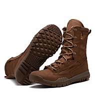 Men's Boots Fall Winter Comfort Canvas Outdoor Athletic Work & Safety Low Heel Lace-up Trail Running