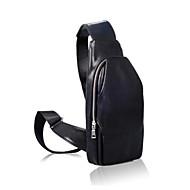 Homem Sling sacos de ombro Couro Ecológico Todas as Estações Azul Preto Marron