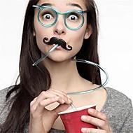 1pcs drinques macio suco de palha único tubo de beber flexível miúdos partido acessórios