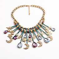 Women's Statement Necklaces Star Drop Moon Chrome Unique Design Personalized Rainbow Jewelry For Housewarming Congratulations Casual 1pc