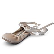 Jente-Fløyel-Flat hæl-Komfort-Flate sko-Bryllup Friluft Kontor og arbeid Fritid Fest/aften Formell-Svart Grå Kakifarget