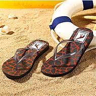 Damen Slippers & Flip-Flops Fersenriemen PU Sommer Normal Fersenriemen Blockabsatz Braun Marinenblau Rot 2,5 - 4,5 cm