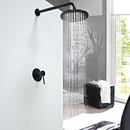 Round Wall Mounted with  Ceramic ValveOil-rubbed Bronze  Shower Faucet
