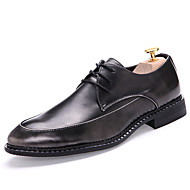 Men's Shoes Patent Leather Fall Winter Oxfords For Black Red