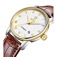 Men's Fashion Watch Mechanical Watch Automatic self-winding Calendar Water Resistant / Water Proof Leather Band White Brown Rose Gold