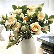 10 ブランチ シルク クチナシ テーブルトップフラワー 人工花