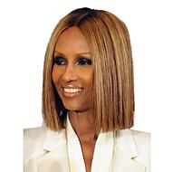 Prevladava prirodna ravna perika elegantna dama gradijent boja ljudske kose perika